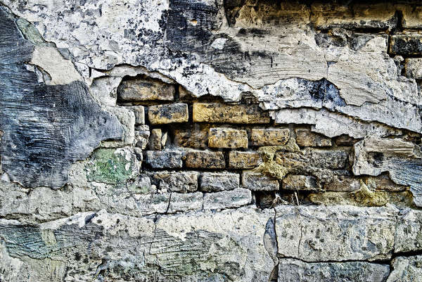 Grunge old bricks wall texture Stock photo © artjazz