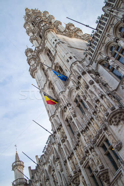 Tower of Maison du Roi on the Grand Place Stock photo © artjazz