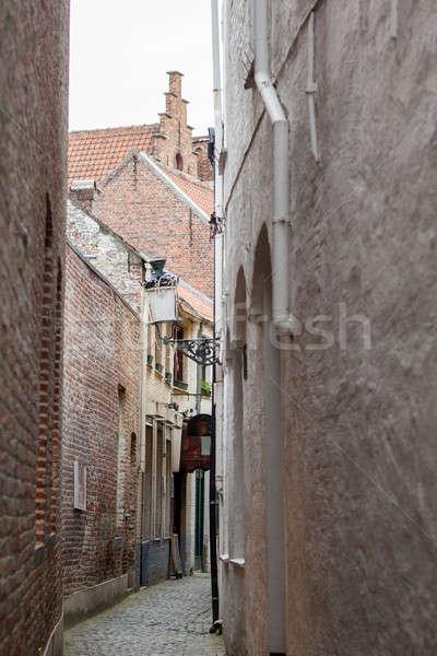 street in Bruges, Belgium Stock photo © artjazz