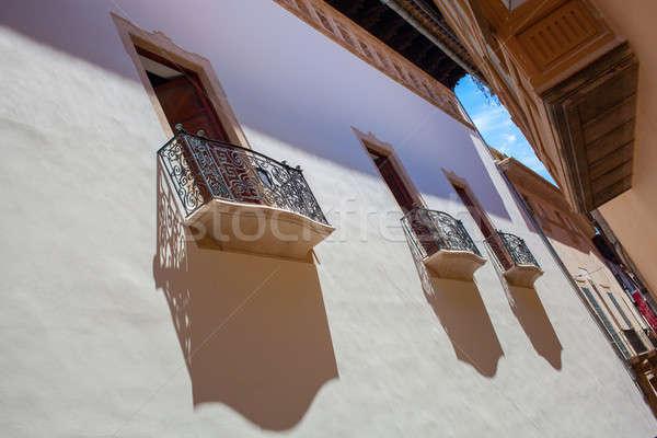 Ver mallorca interessante rua cidade velha três Foto stock © artjazz