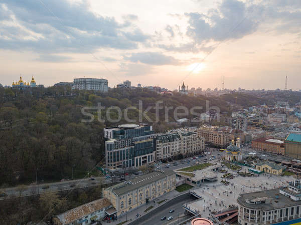 view of St. Andrew's Church and the St. Michael's Monastery of the Golden Domes, the Ministry of the Stock photo © artjazz