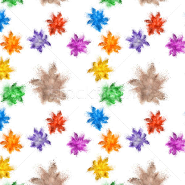 Explosion of colored powder Stock photo © artjazz