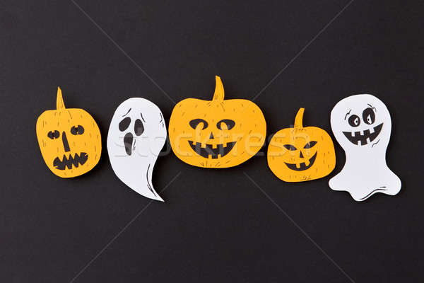 Colorato halloween pattern battenti fantasma Foto d'archivio © artjazz