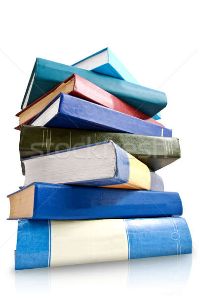 pile of books  isolated on white Stock photo © artjazz
