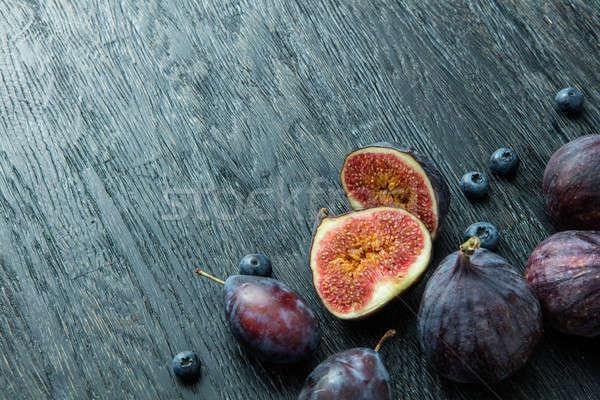 Fresco mirtilos cinza natureza fruto Foto stock © artjazz