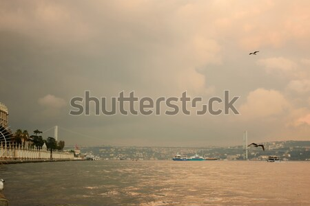 view of the quay ortakoy Stock photo © artjazz