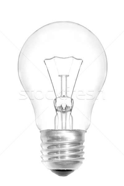 電球 孤立した 白 抽象的な 技術 背景 ストックフォト © artjazz