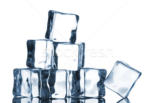ice cubes isolated on white Stock photo © artjazz