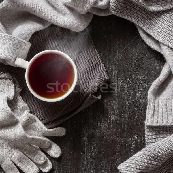 Gebreid handgemaakt wol kleding najaar winter Stockfoto © artjazz
