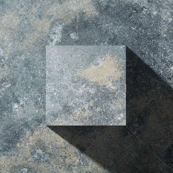 granite dark cube Stock photo © artjazz