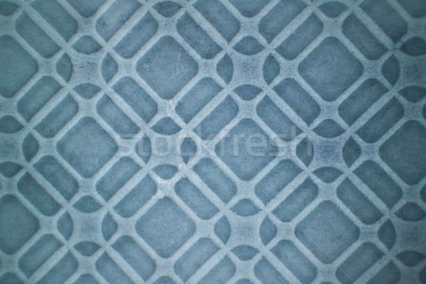 Decorative pattern on ceramic blue tile Stock photo © artjazz