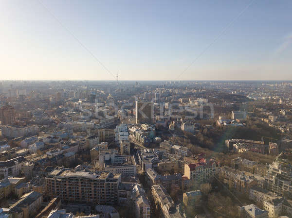 Vozdvizhenka, Podol and Dorogozhychi districts and the city center of Kiev Stock photo © artjazz