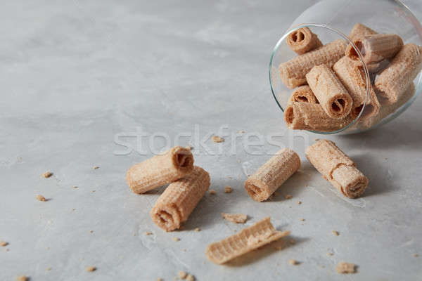 Glas wafeltje romig Stockfoto © artjazz