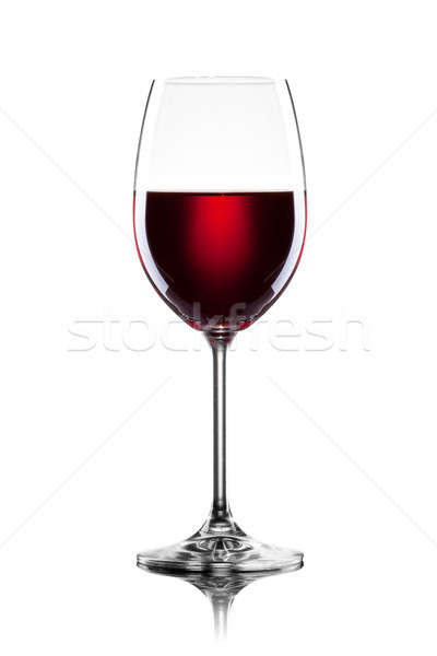 Red wine in glass isolated on white Stock photo © artjazz
