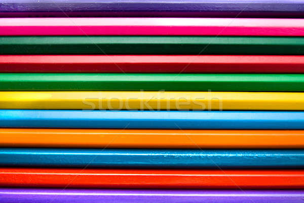 Backround from color pencils Stock photo © artjazz