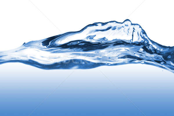 water splash with wave isolated on white Stock photo © artjazz