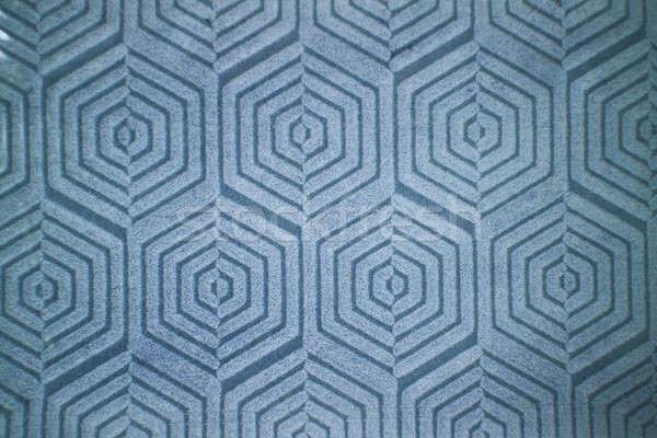 Figured decorative pattern on blue ceramic tiles Stock photo © artjazz