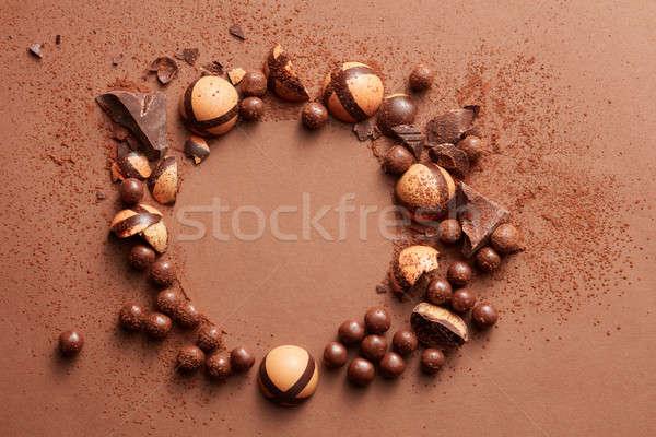 delicious chocolate candies Stock photo © artjazz