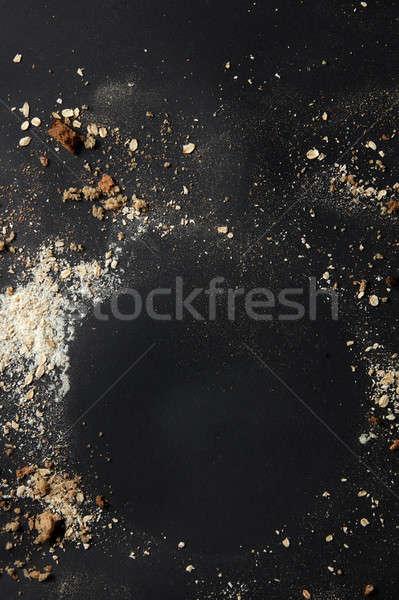 Sprinkled flour over background Stock photo © artjazz