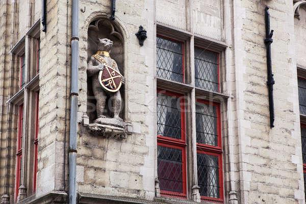 Photo stock: Architectural · détails · bâtiments · ville · bâtiment · mur