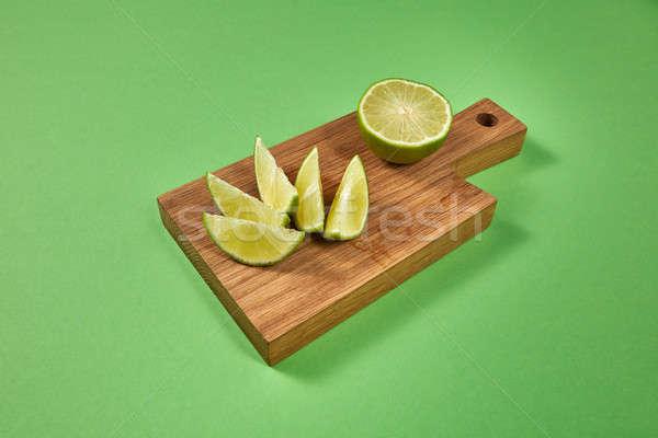 Lédús szeletek fél érett zöld citrus Stock fotó © artjazz