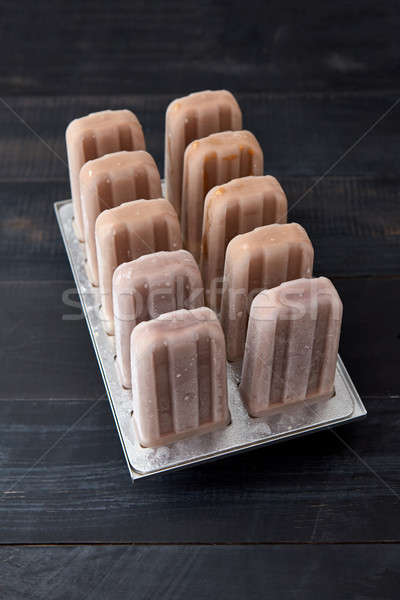 льда шоколадом домашний шербет пластиковых Сток-фото © artjazz