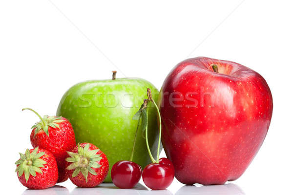 Foto stock: Verano · frescos · frutas · blanco · primavera · alimentos