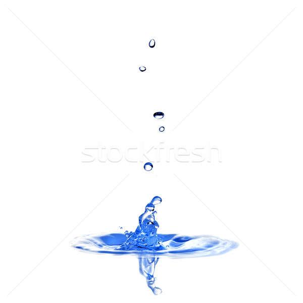 Сток-фото: капли · изолированный · всплеск · белый
