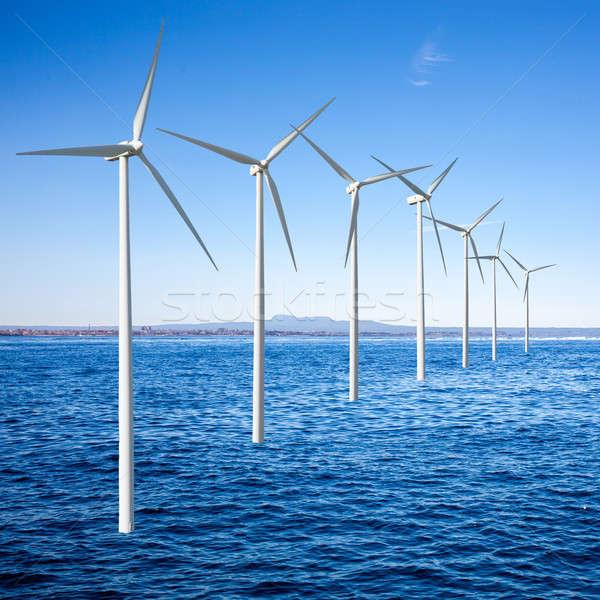 Foto stock: Vento · mar · tecnologia · verão · oceano · azul