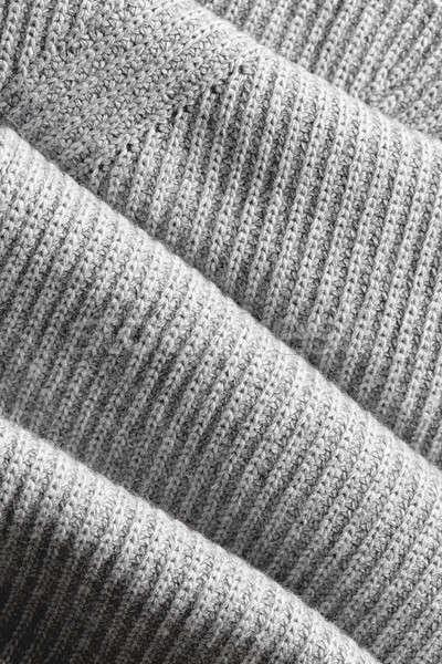 Buruşuk kumaş doku tok sayfa koyu gri Stok fotoğraf © artjazz