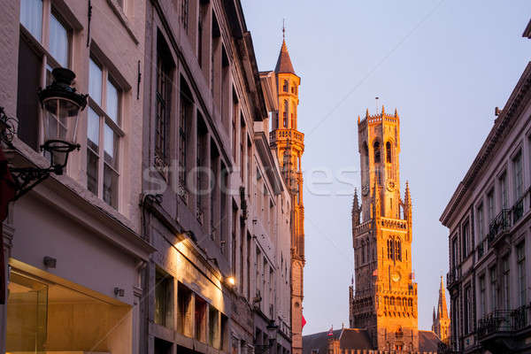 The belfry of Bruges Stock photo © artjazz