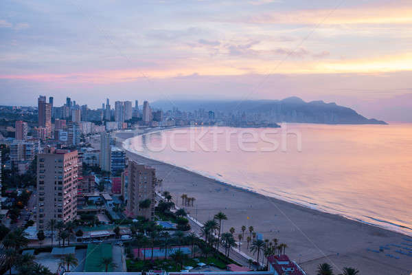 panoramic view of the tourist hub Benidorm Stock photo © artjazz