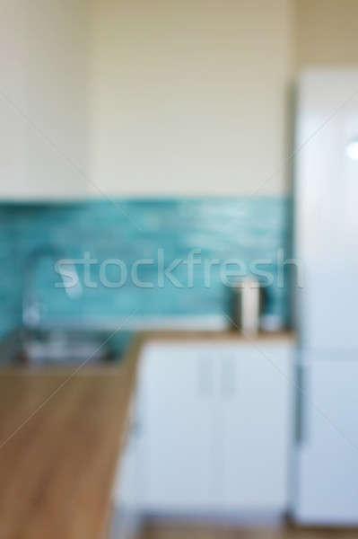 Interieur moderne keuken interieur huis natuurlijke Stockfoto © artjazz
