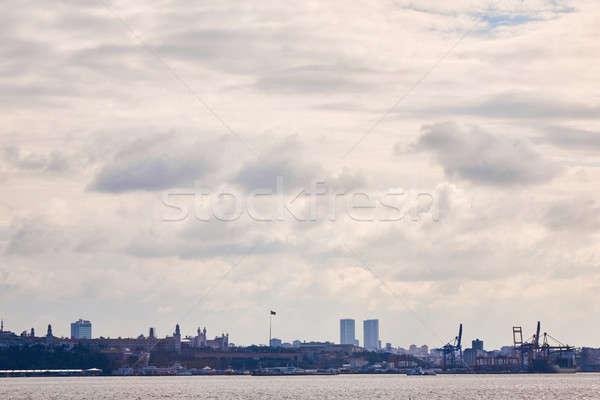 Panoramik görmek şehir İstanbul Türkiye deniz Stok fotoğraf © artjazz