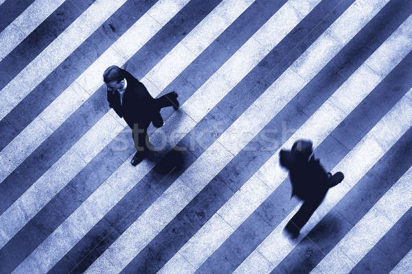 business crosswalk scene Stock photo © artjazz