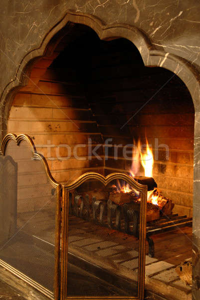 fireplace Stock photo © artjazz