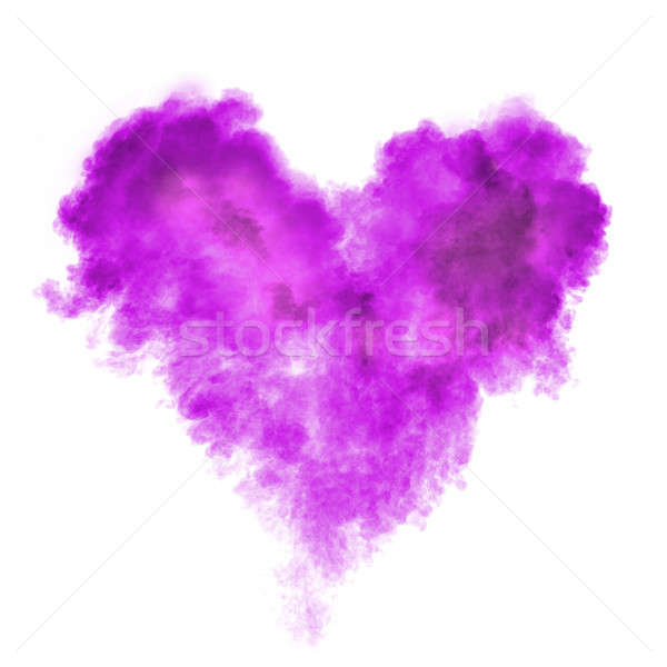 Szív fekete por robbanás izolált fehér Stock fotó © artjazz