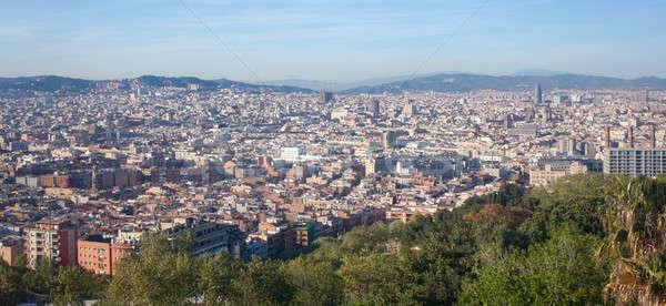 Bird's eye view of Barcelona , Spain Stock photo © artjazz