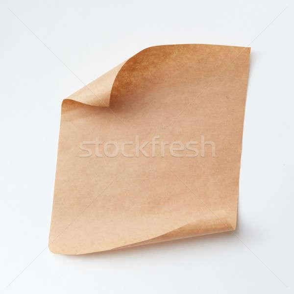 Oude papier stuk geïsoleerd witte exemplaar ruimte Stockfoto © artjazz