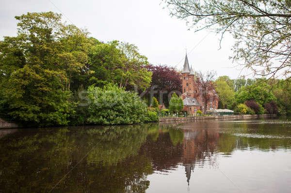 Medieval building on Love lake Stock photo © artjazz