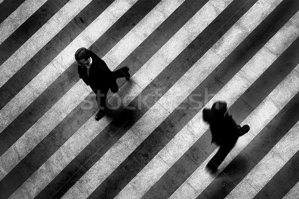 Busy crosswalk scene on the stripped floor Stock photo © artjazz