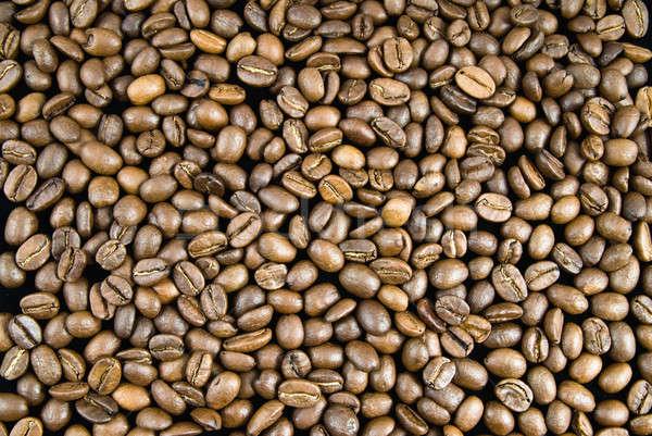Stockfoto: Koffiebonen · textuur · koffie · cafe · zwarte · silhouet