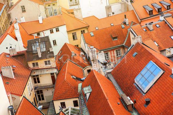 プラハ 住宅 屋根 チェコ共和国 ストックフォト © artjazz