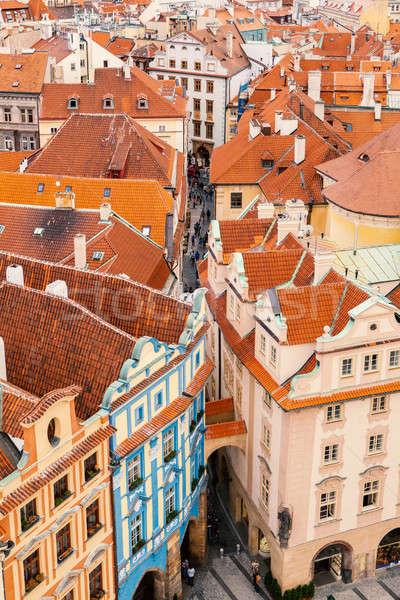 Cityscape Praga República Checa cidade velha casa Foto stock © artjazz