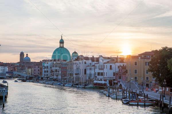 Grand Canal and Basilica Santa Maria della Salute Stock photo © artjazz