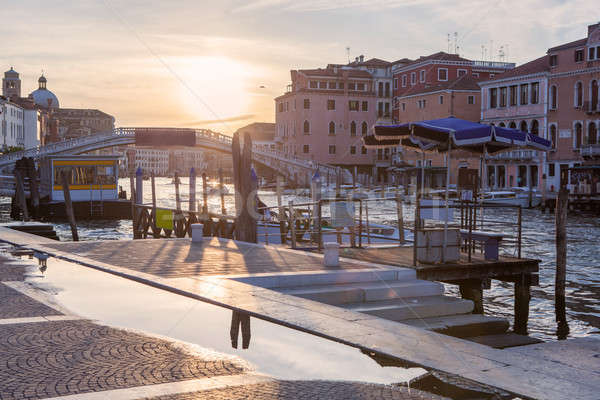 Grand Canal of Venice at Sunset Stock photo © artjazz