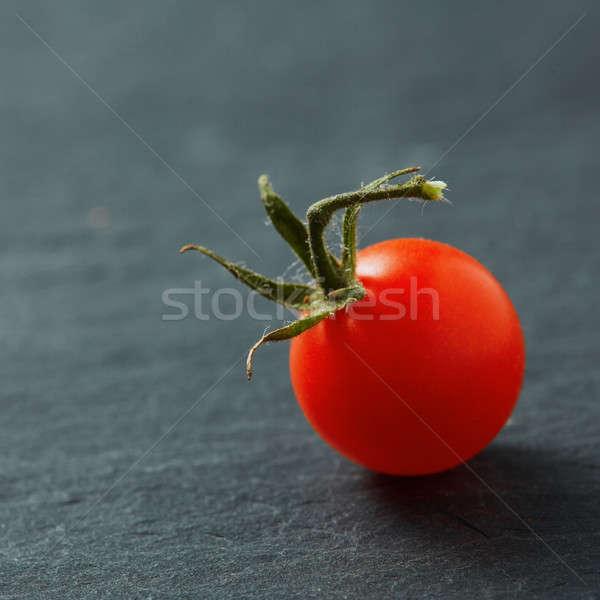 Frescos tomate cherry aislado negro salud verano Foto stock © artjazz
