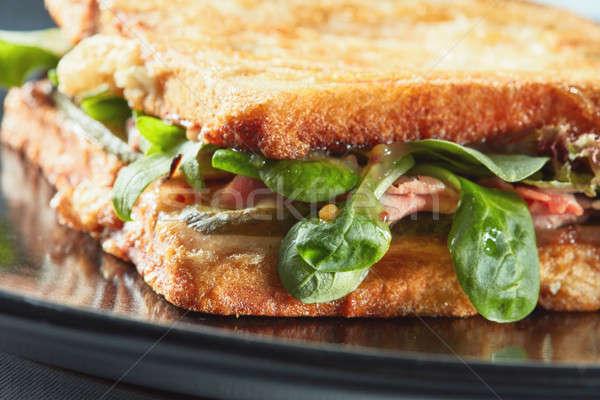Healthy sandwich with bacon Stock photo © artjazz