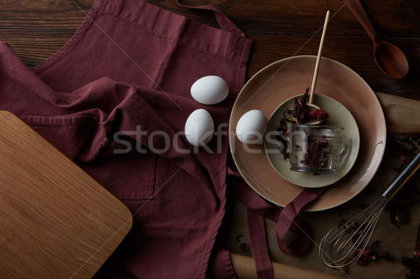 Cooking in a dish Stock photo © artjazz