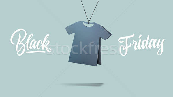 Tshirt karton black friday verkoop vorm Blauw Stockfoto © artjazz